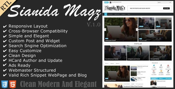 Sianida Blogger Template