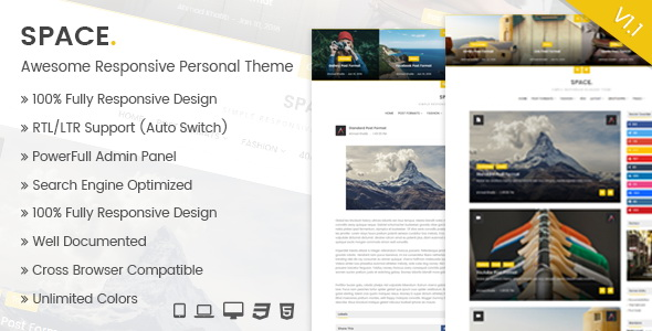 Space Blogger Template