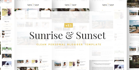 Sunrise and Sunset Blogger Template