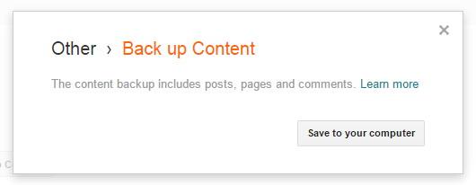 Blogger Save Backup to Computer