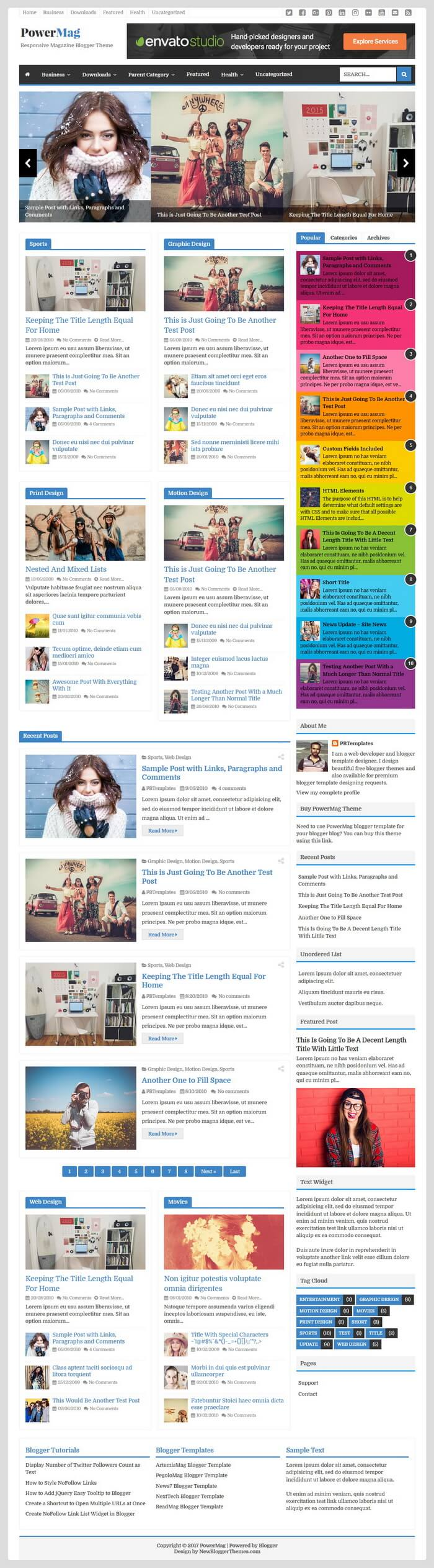 PowerMag Blogger Theme