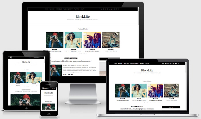 BlackLite Blogger Template