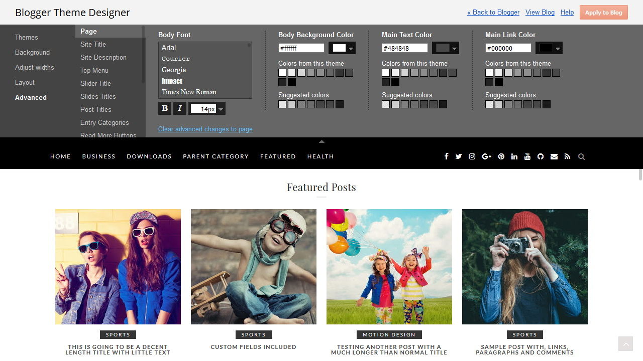 Template Designer - BlackLite Blogger Template