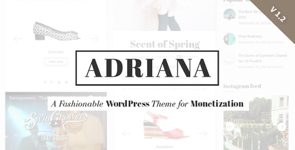 Adriana - Fashion WordPress Theme
