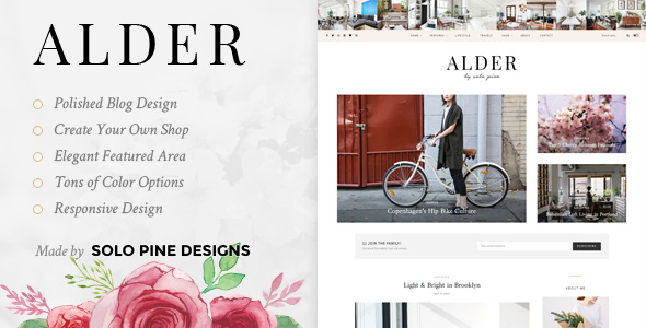 Alder - A Responsive WordPress Blog Theme