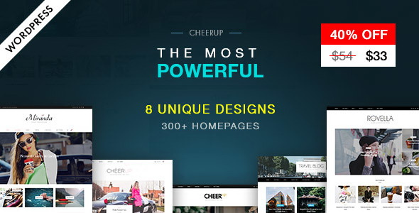 CheerUp Blog / Magazine - WordPress Blog Theme