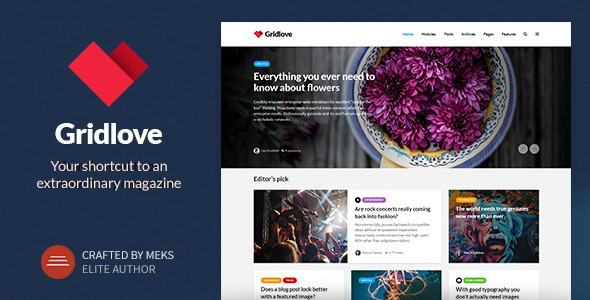 Gridlove - Creative Grid Style News & Magazine WordPress Theme