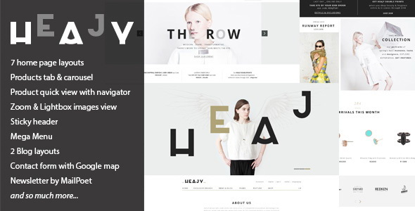 Heajy - Handmade Fashion WordPress Theme