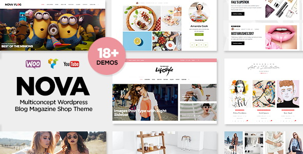 NovaBlog - Multi-Concept Blog / Magazine WordPress Theme