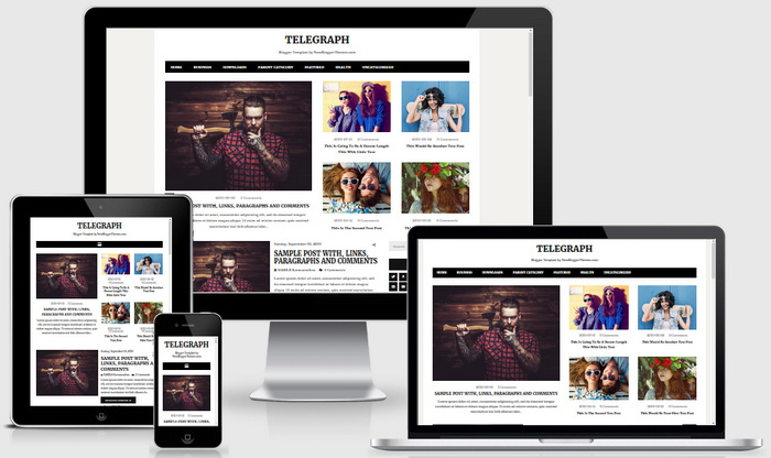 Telegraph Blogger Theme