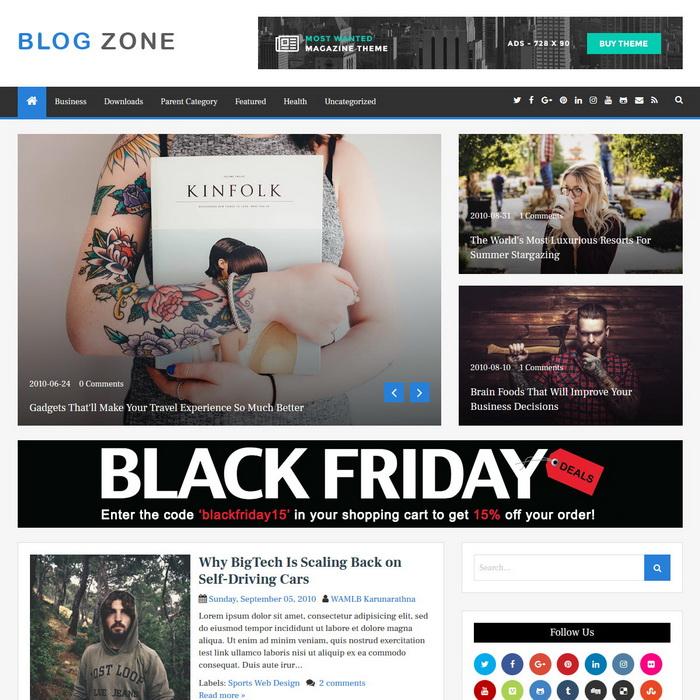 BlogZone Blogger Template