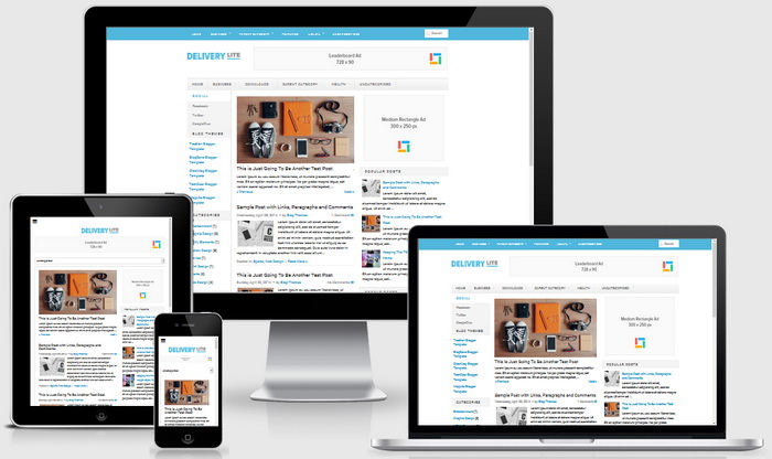 Responsive View - Delivery Lite Blogger Template