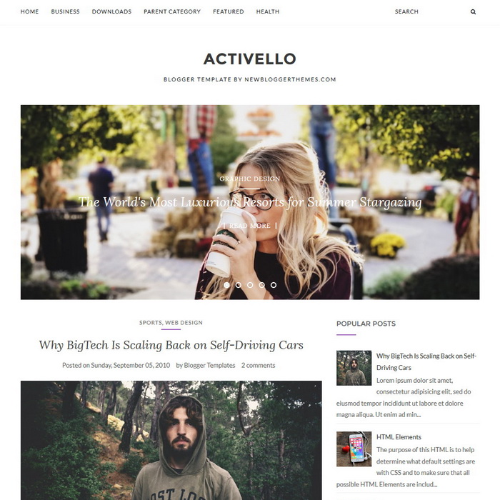 Activello Blogger Template