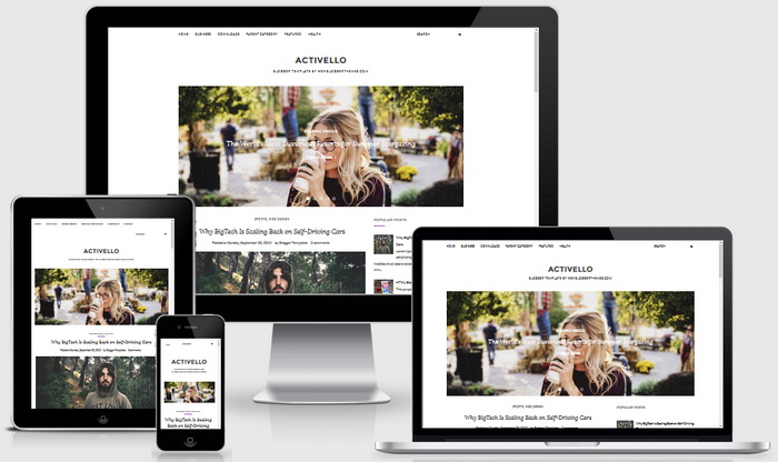 Responsive Design - Activello Blogger Template