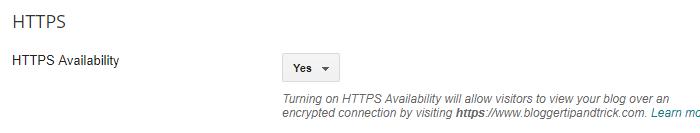 Blogger HTTPS Availability for Custom Domains