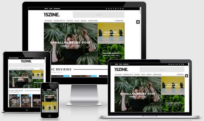15Zine WordPress Theme