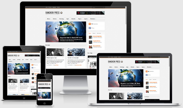Bangkok Press WordPress Theme