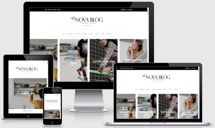NovaBlog WordPress Theme