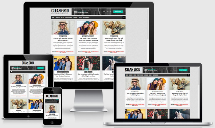 Responsive View - Clean Grid Blogger Template