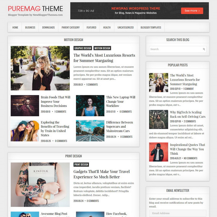 PureMag Blogger Template