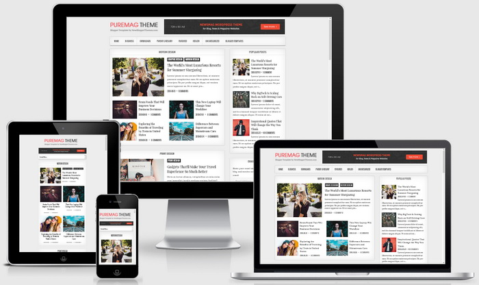Responsive View - PureMag Blogger Template