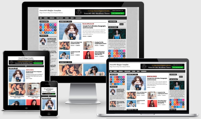 Responsive View - PowerWP Blogger Template